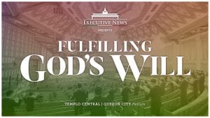 text fulfilling god's will over central templo sanctuary