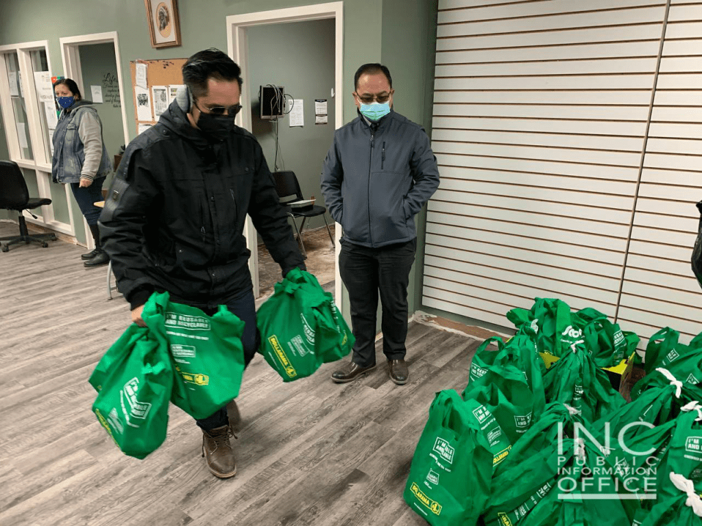 3.Volunteers from the Iglesia Ni Cristo (Church Of Christ) delivered care packages to North End Community Renewal Corporation (NERC), among the recipients of the 550 plus care packages that went out to organizations in central Canada this March.