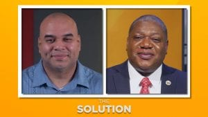 Minister and guest on The Solution Banner for Coping With the Death Of A Parent episode