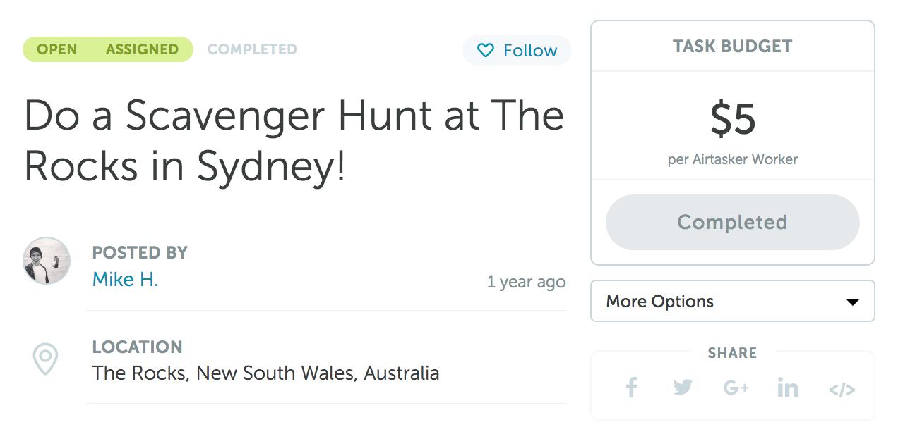 Making Scavenger Hunts for a Living