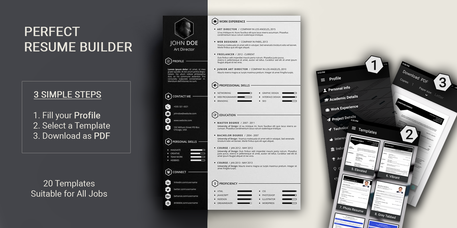 Free Resume Builder With 30+ Resume Templates Suitable For Various Jobs.  This Is The First Resume App With More Resume Formats.