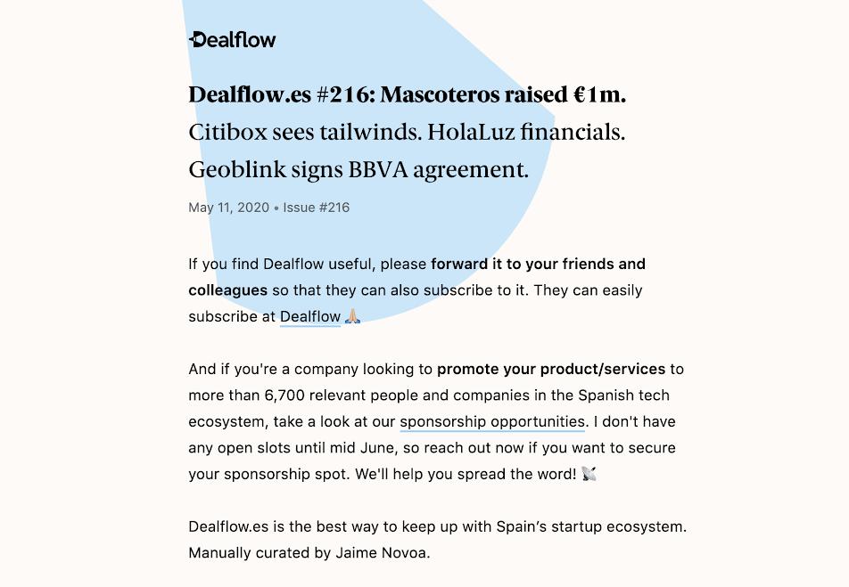 Dealflow.es online