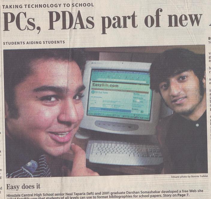 EasyBib's original newspaper article