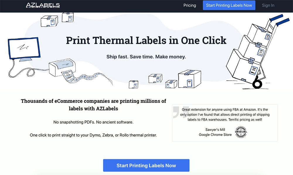 AZLabels homepage