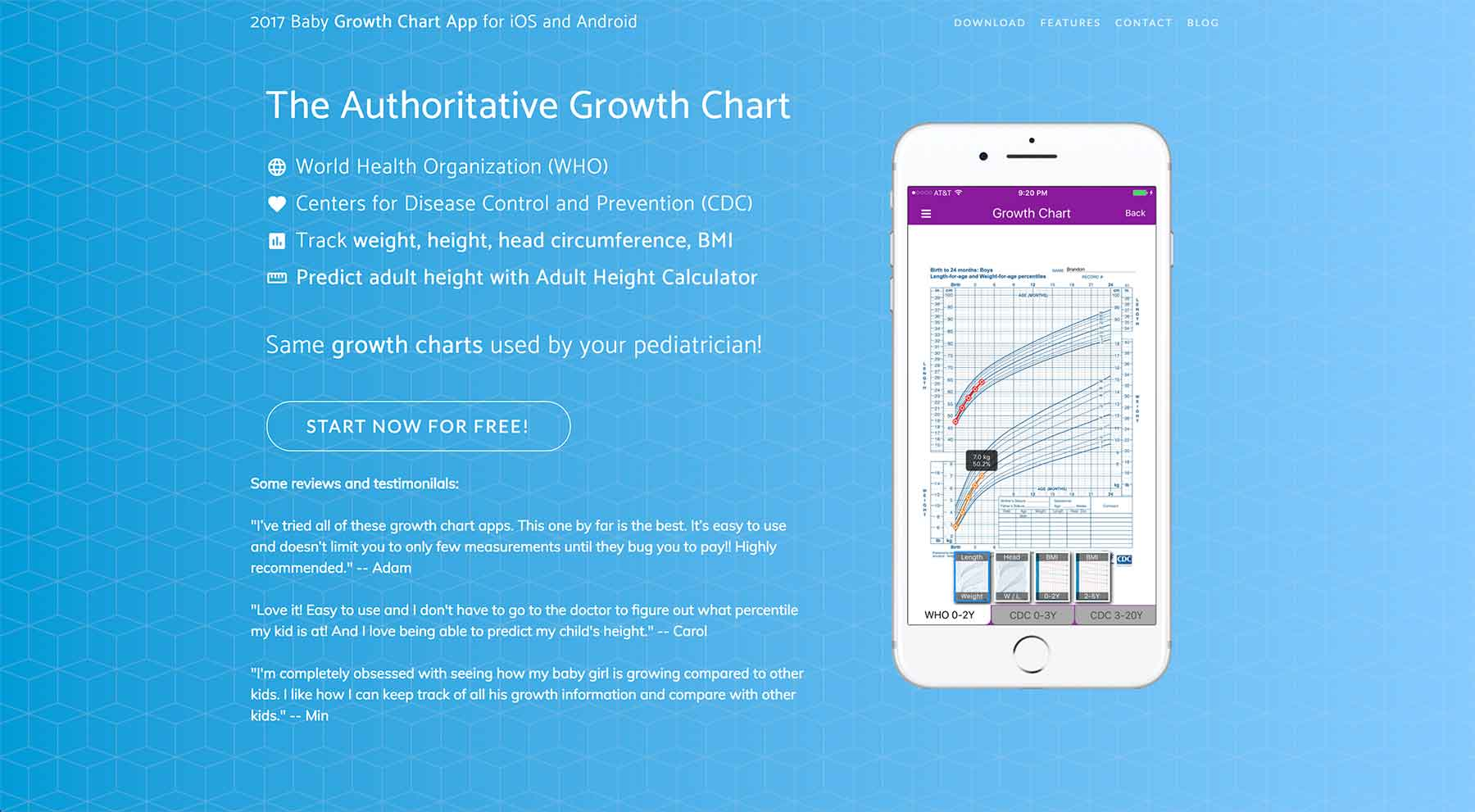 How a new father built an ios app for other new parents indie the growth chart website nvjuhfo Gallery