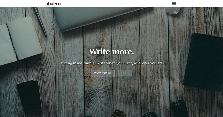 BlankPage website