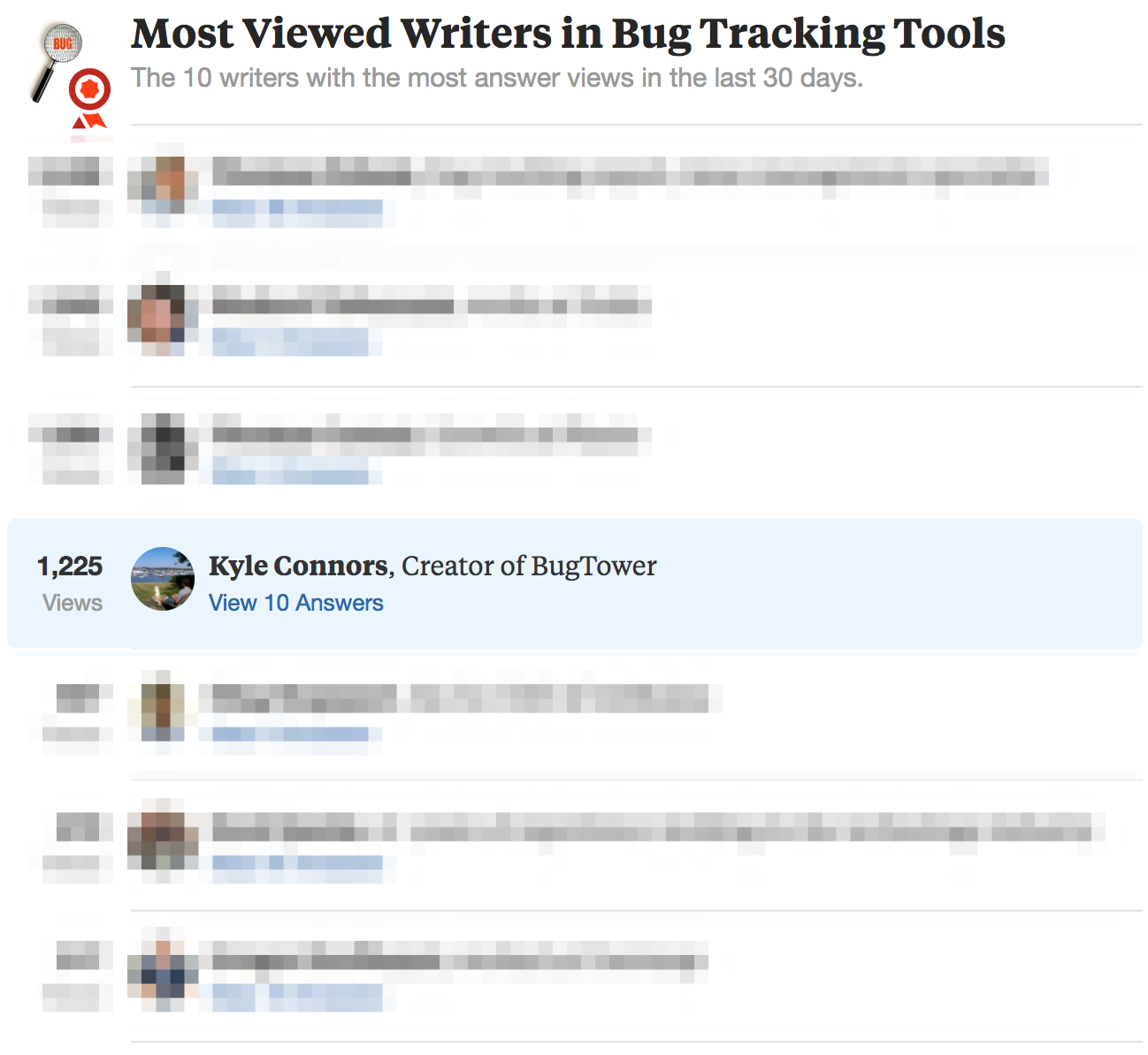 Quora Bug Tracking
