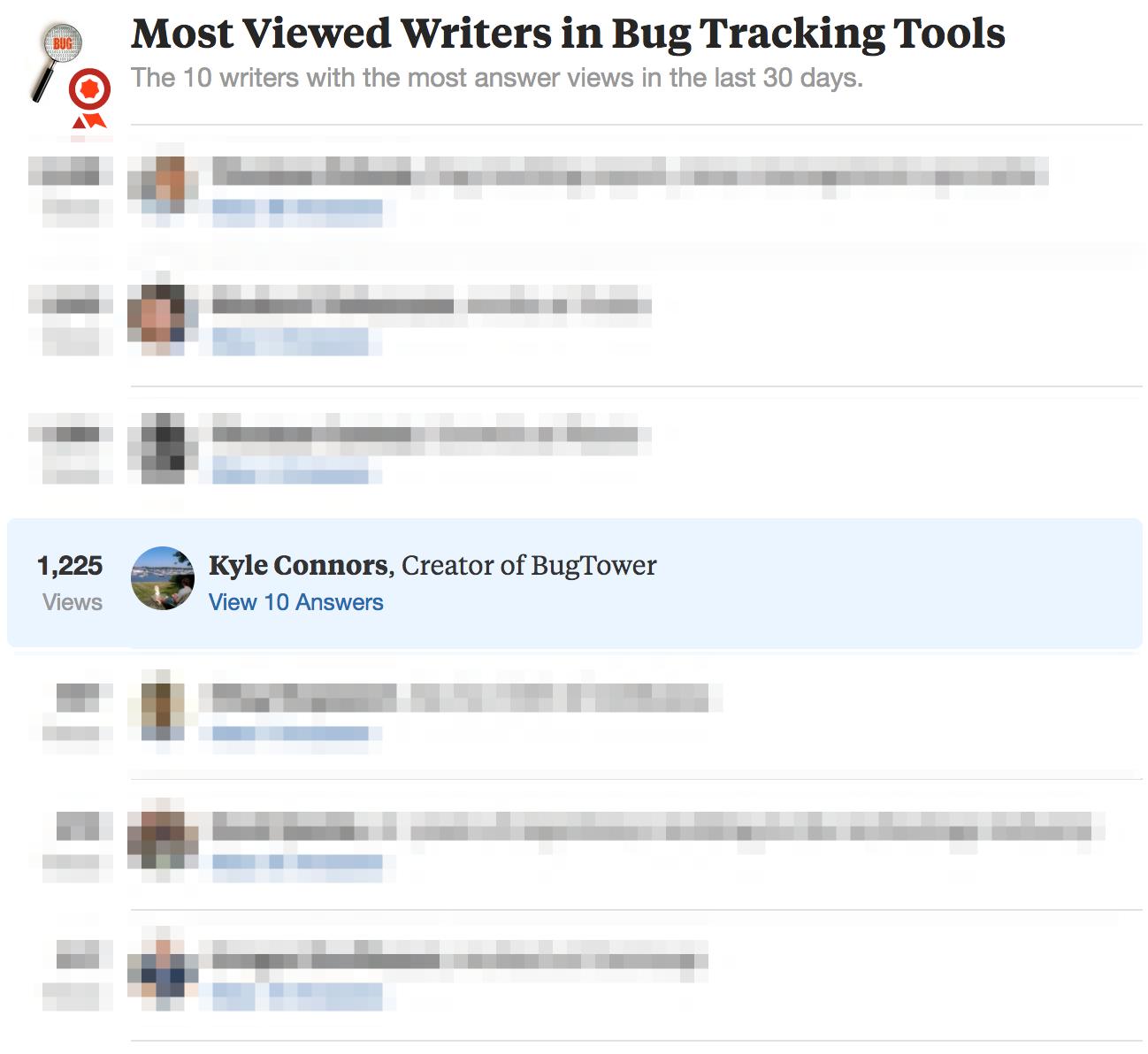 Quora Bug Tracking