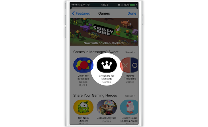 Checkers Featured in the App Store