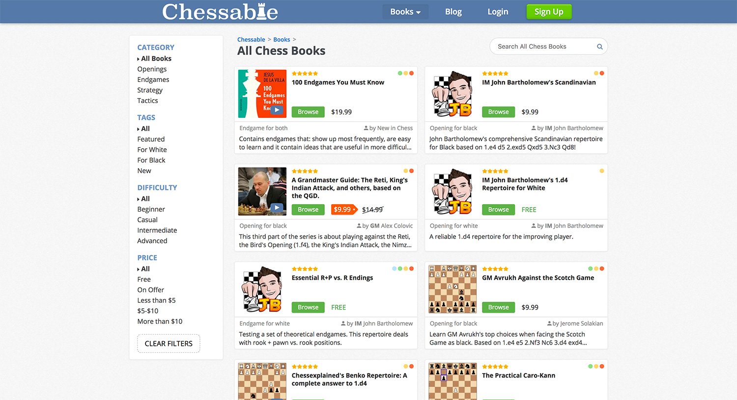 Chessable books