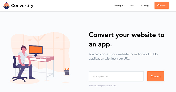Convertify homepage