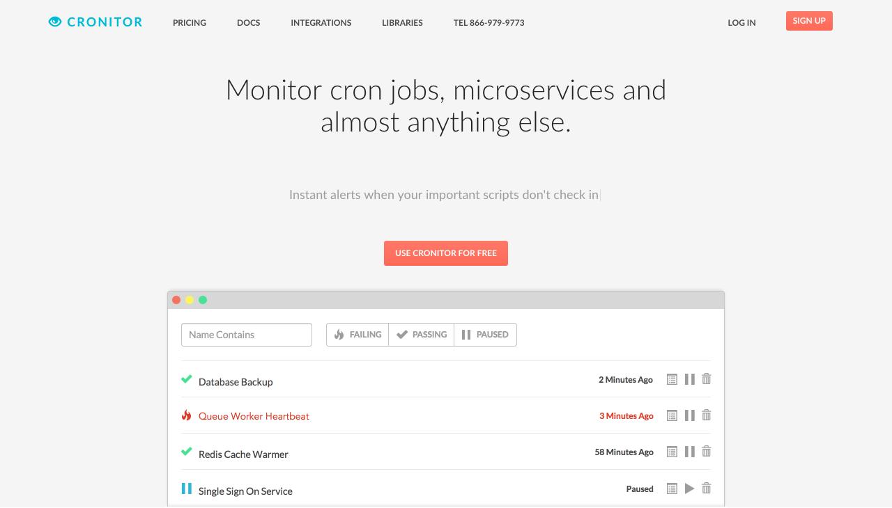 Cronitor.io Screenshot