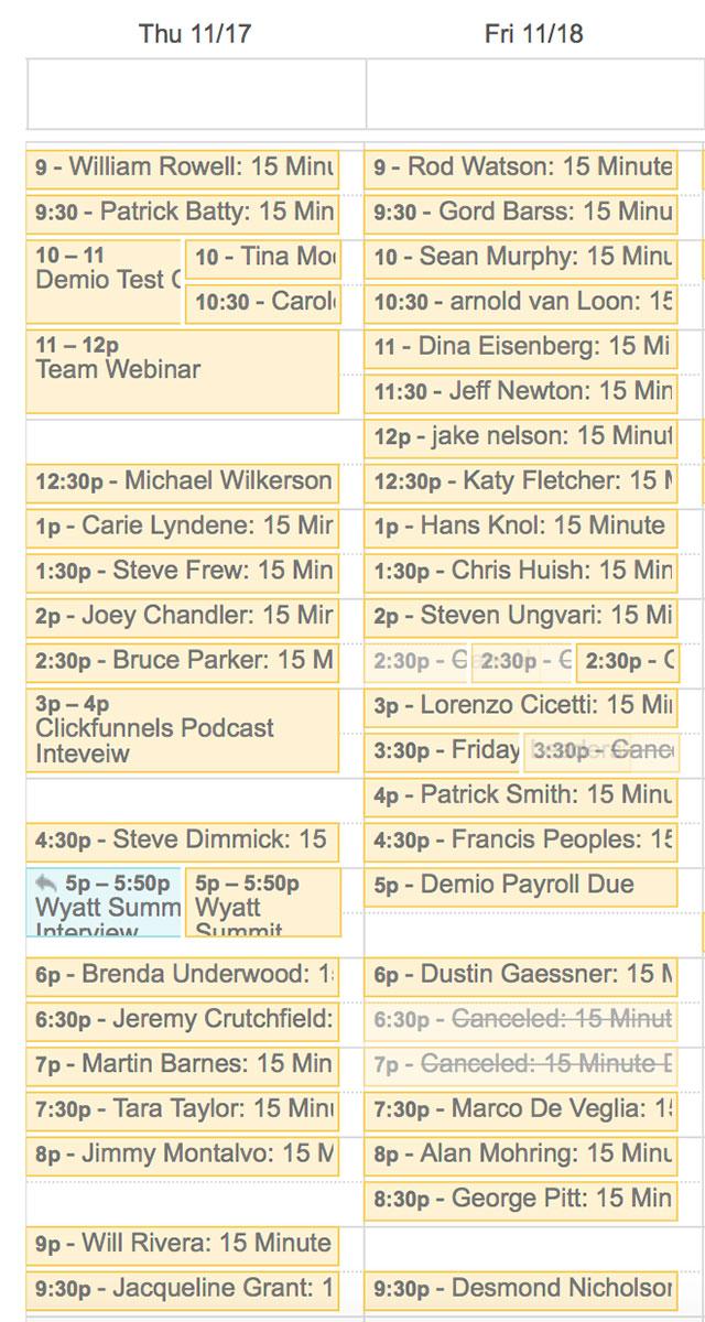 Demio Calendar