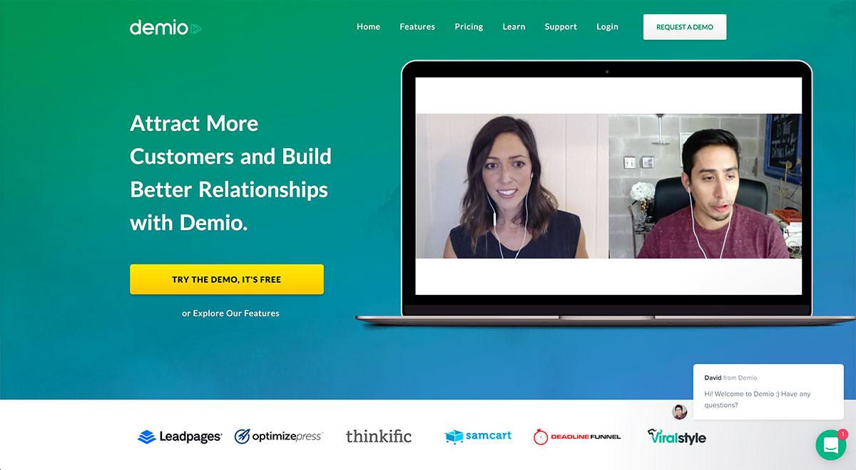 Demio website