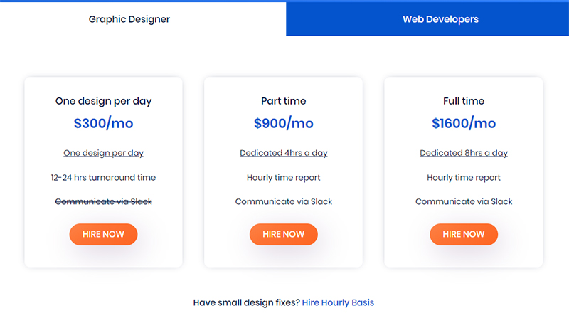 DesignPac pricing model