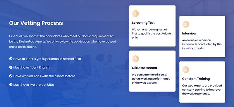DesignPac vetting process