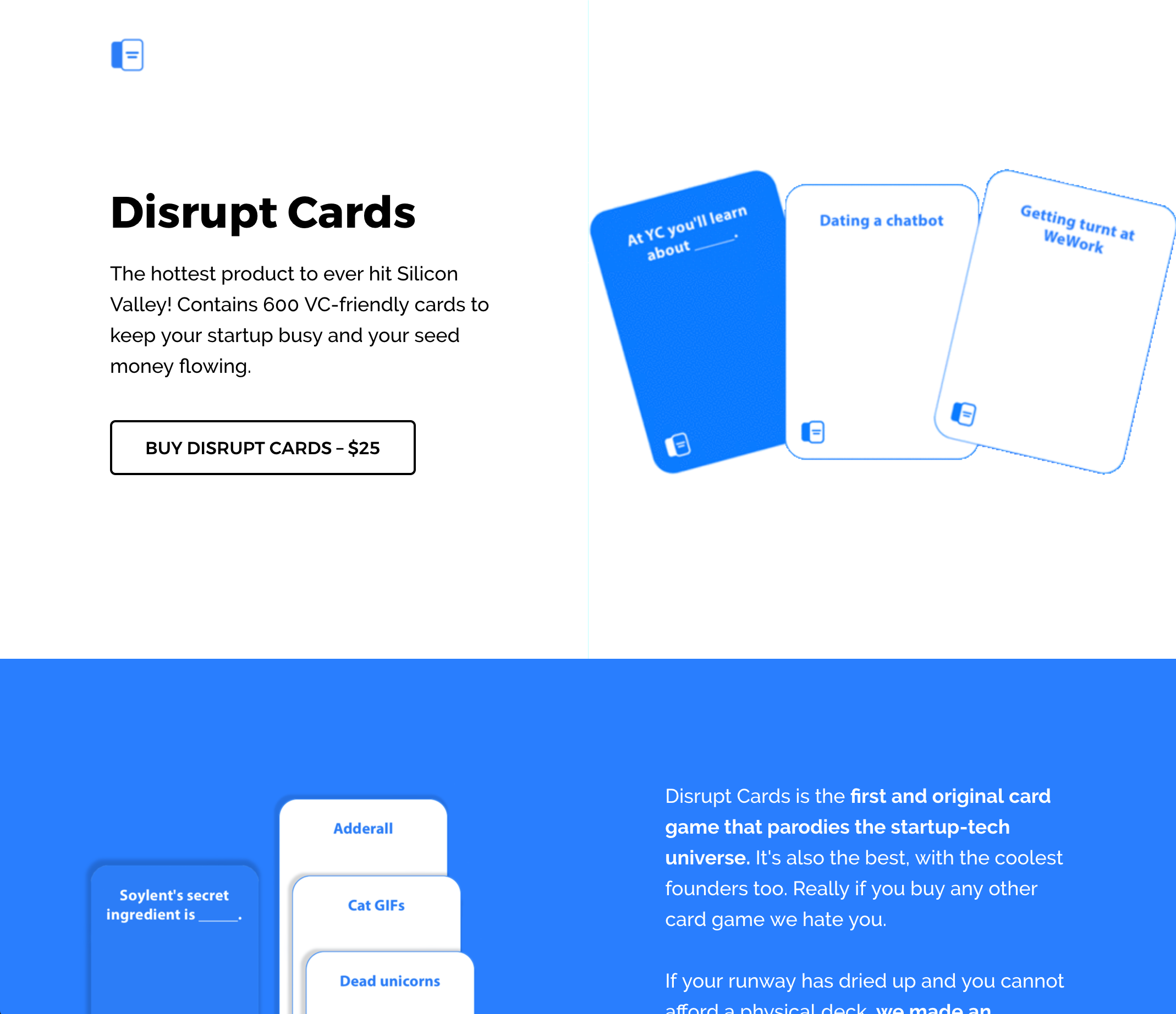 Disrupt Cards Website