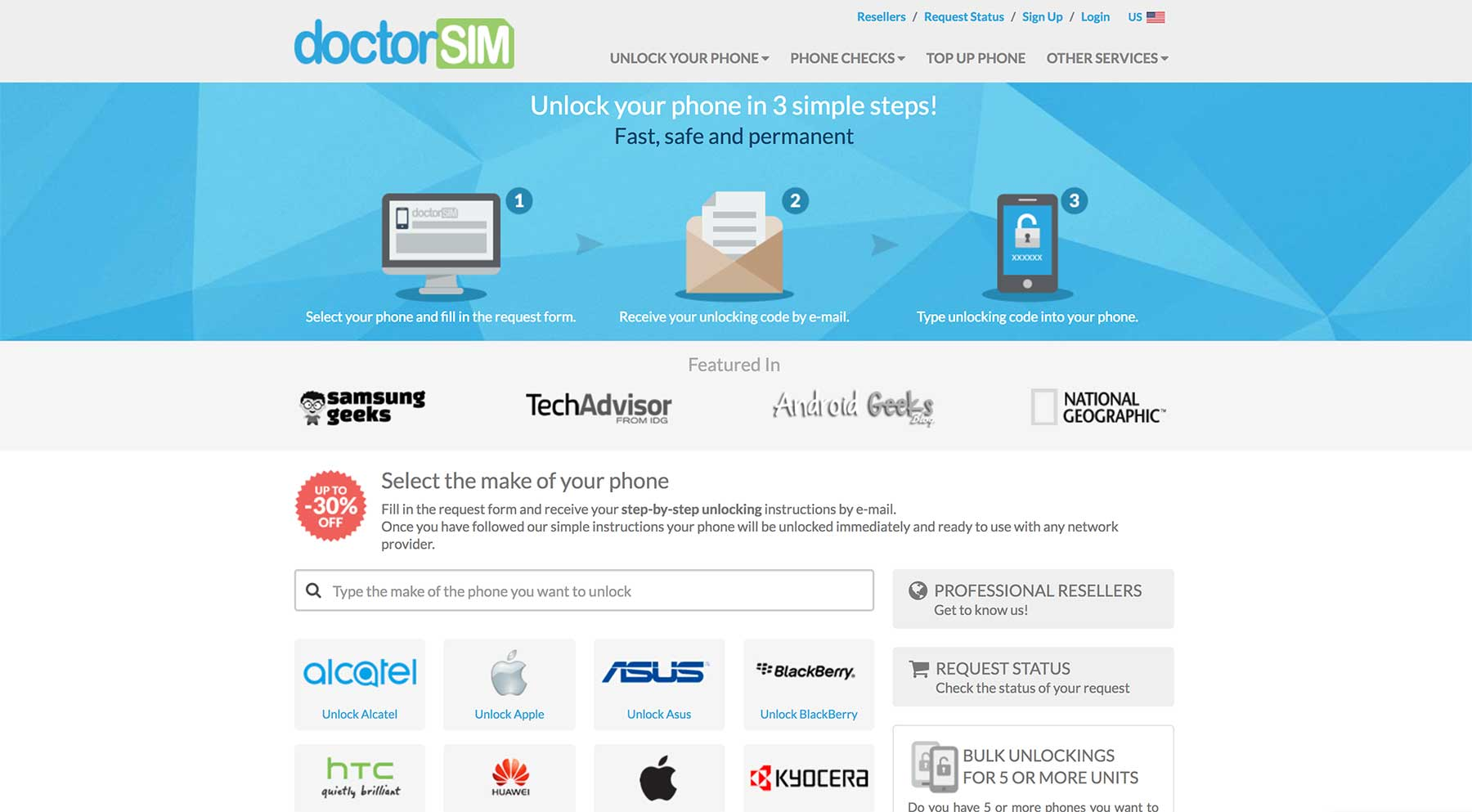 doctorSIM website