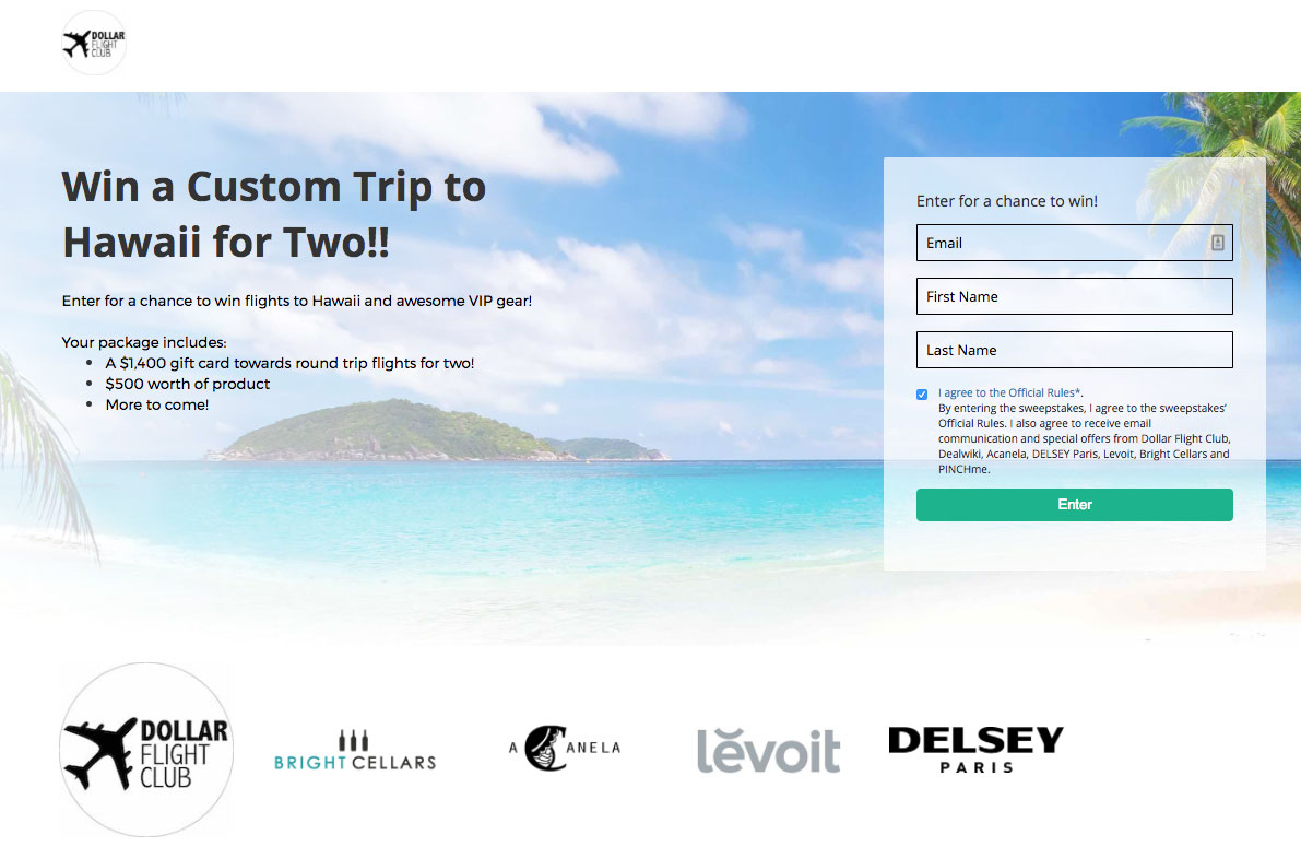 Dollar Flight Club Giveaway