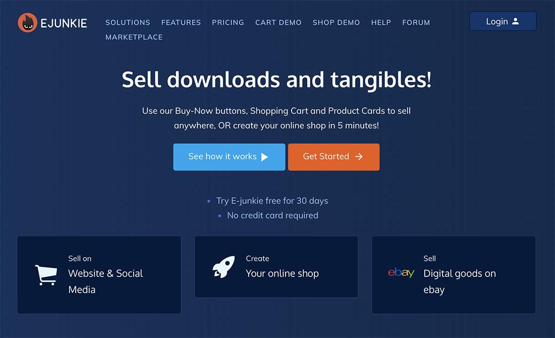 E-junkie homepage