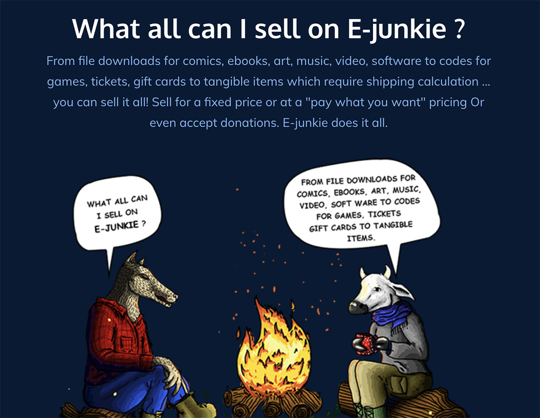 E-junkie what to sell