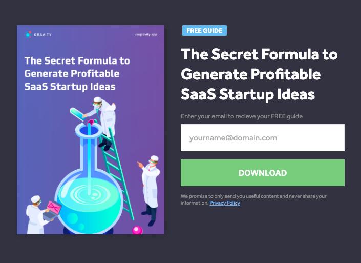 the secret formula to generating profitable SaaS ideas