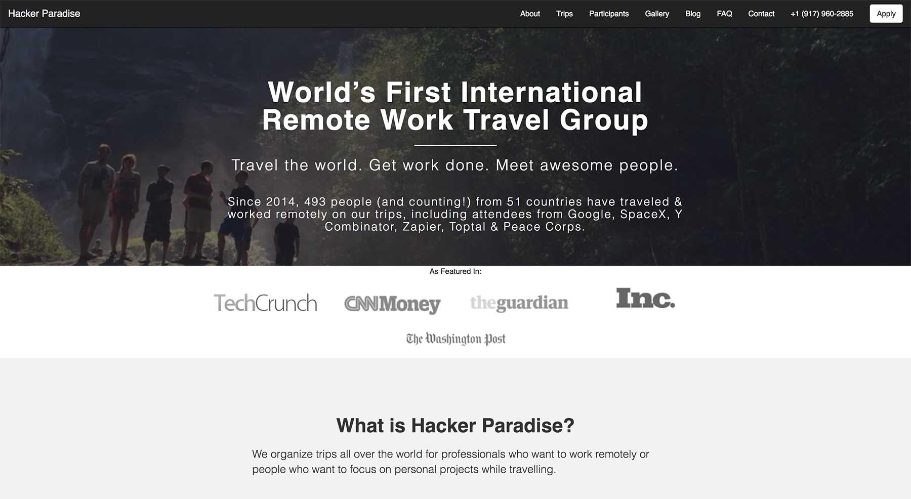 Hacker Paradise site