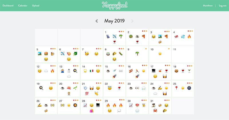 Happyfeed calendar