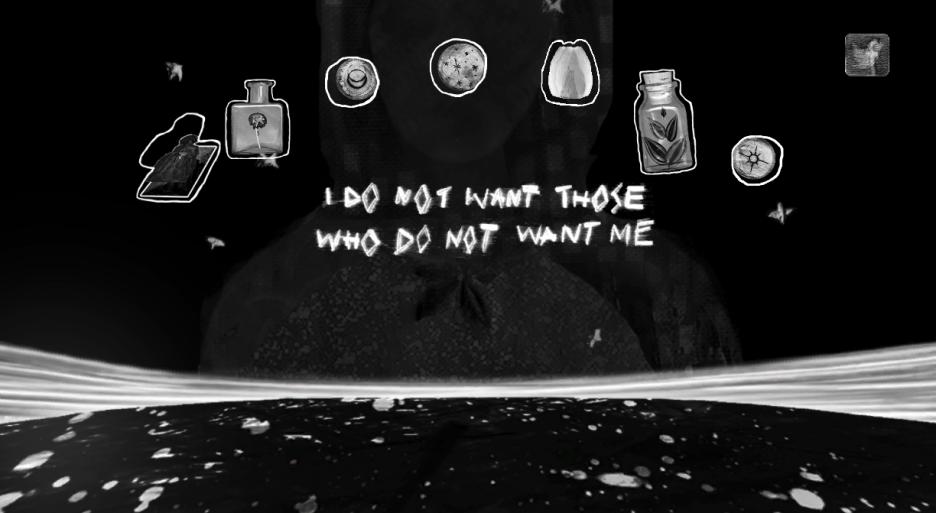 A screenshot from Kara's game Ritual of The Moon