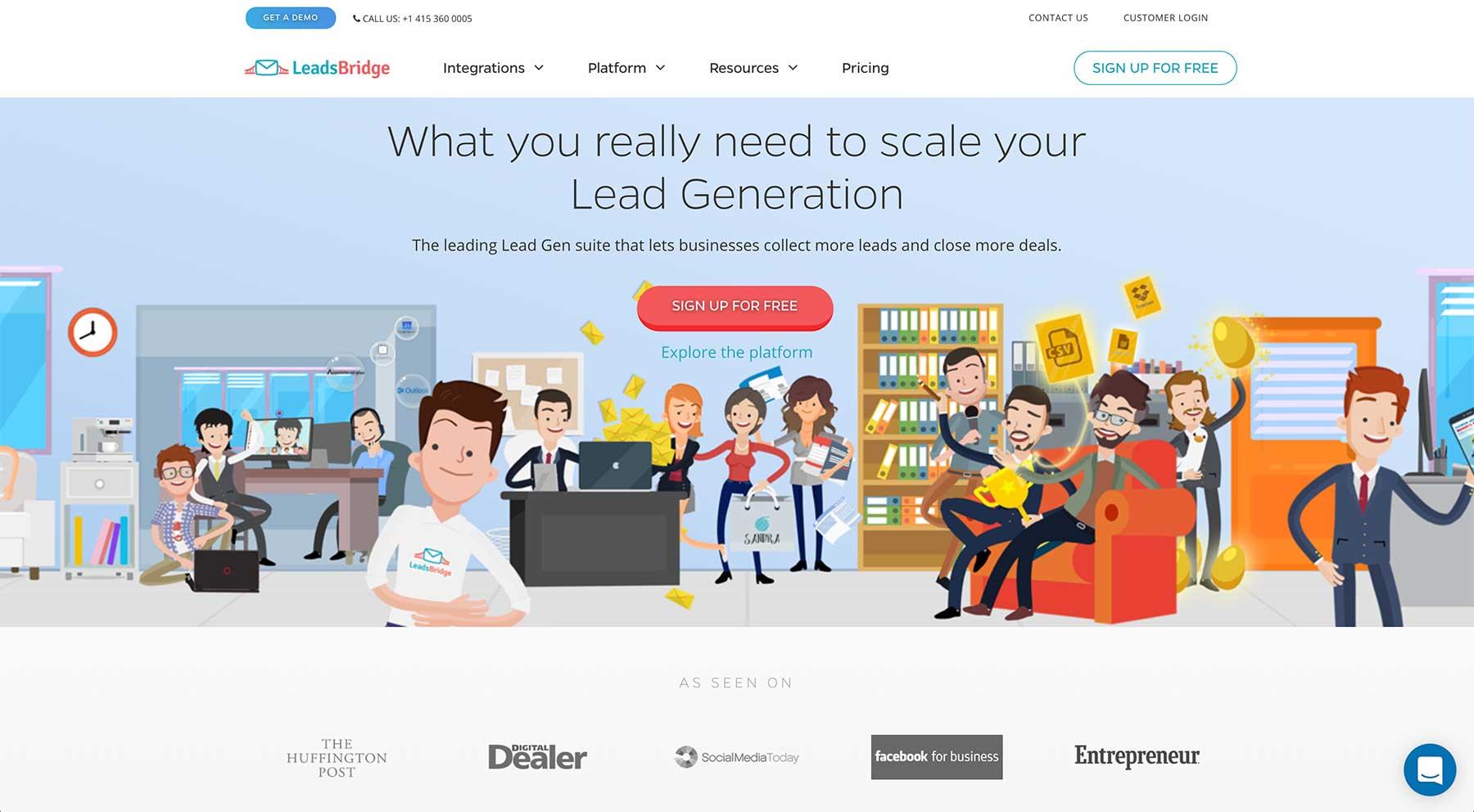 LeadsBridge website