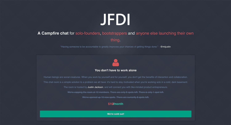 JFDI Landing Page