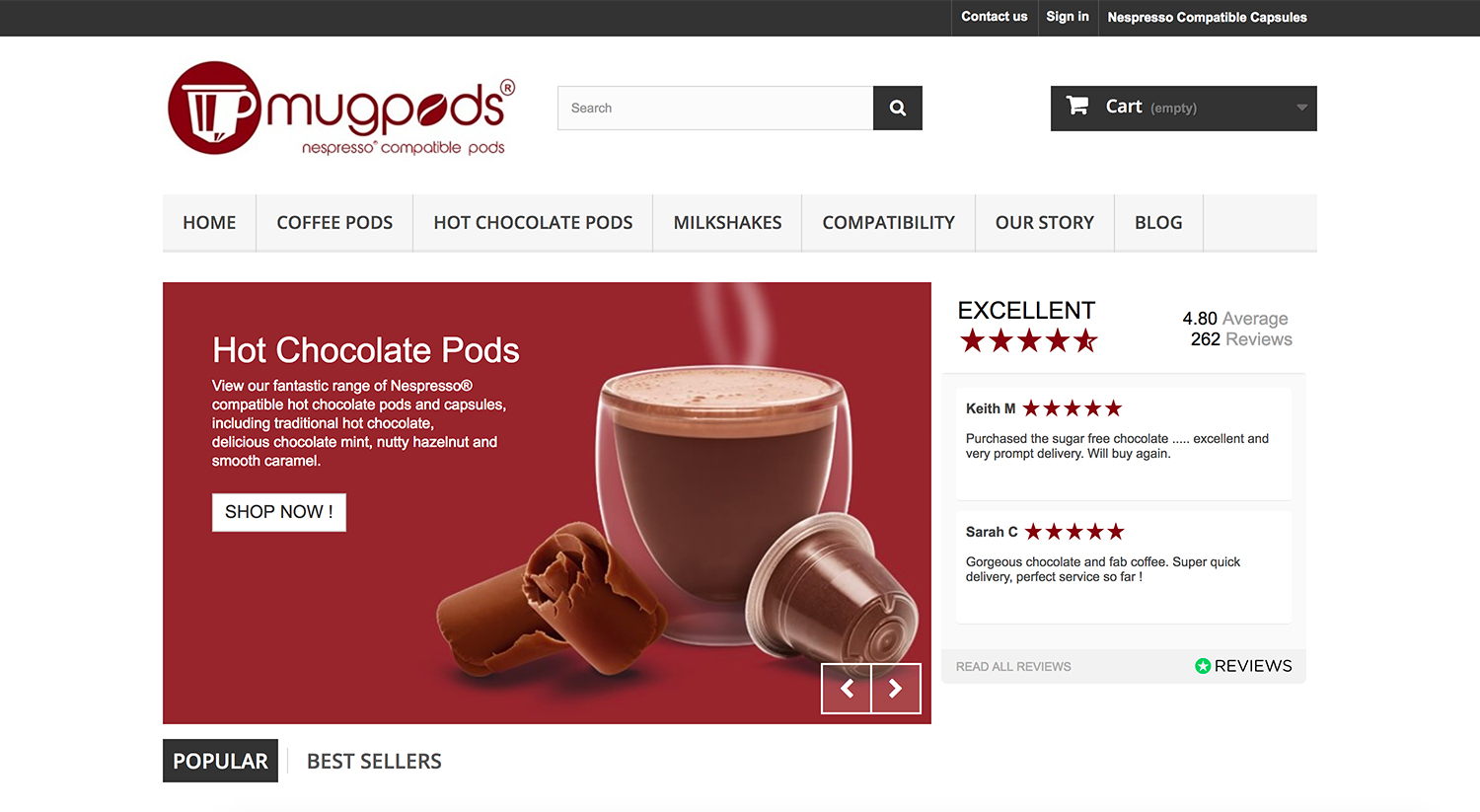 mugpods Home Page