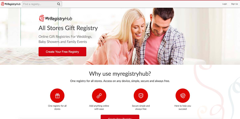 MyRegistryHub.com Homepage