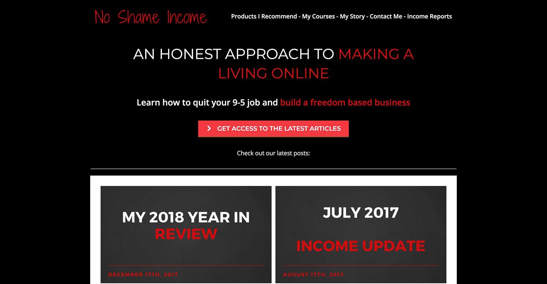 No Shame Income