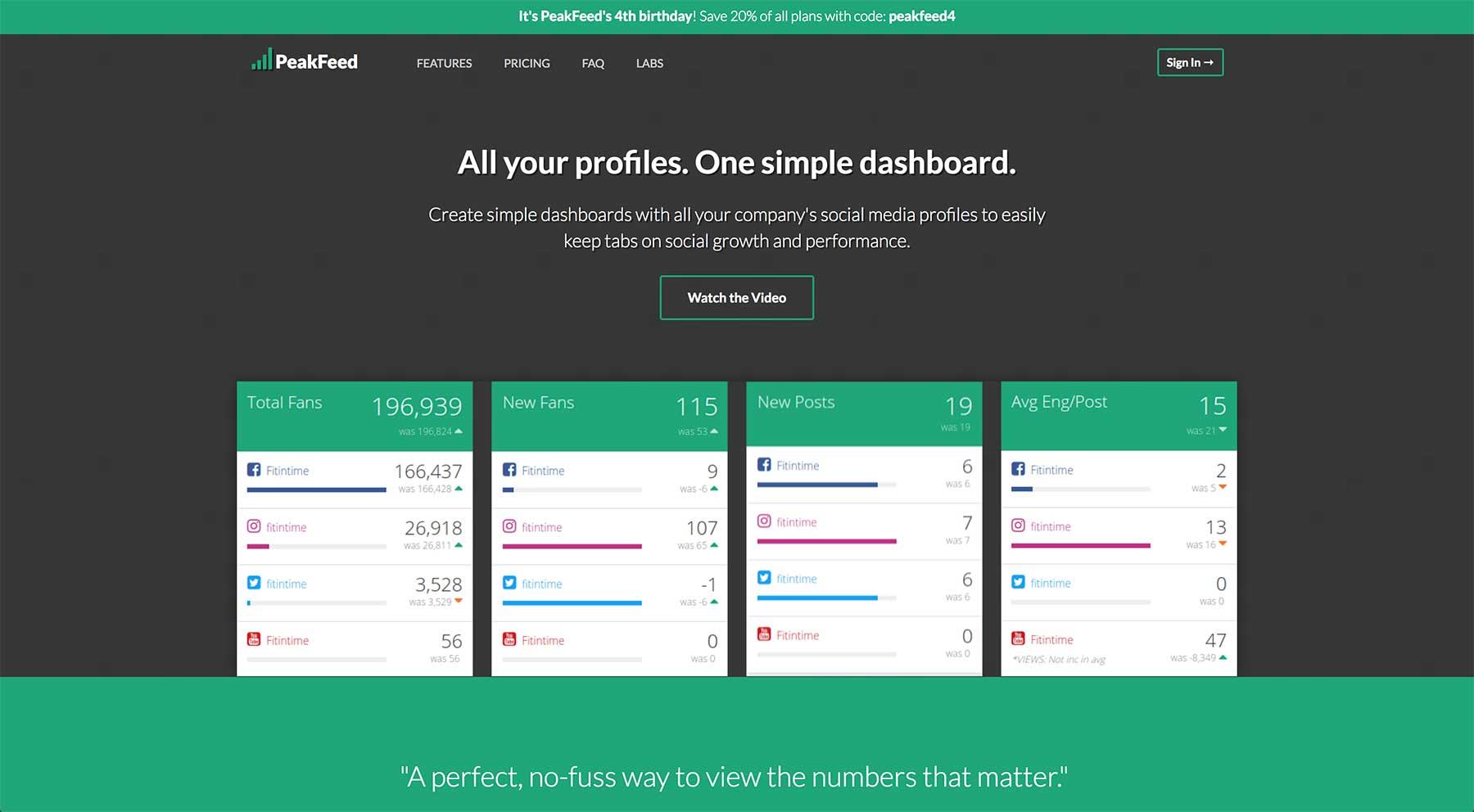 PeakFeed website