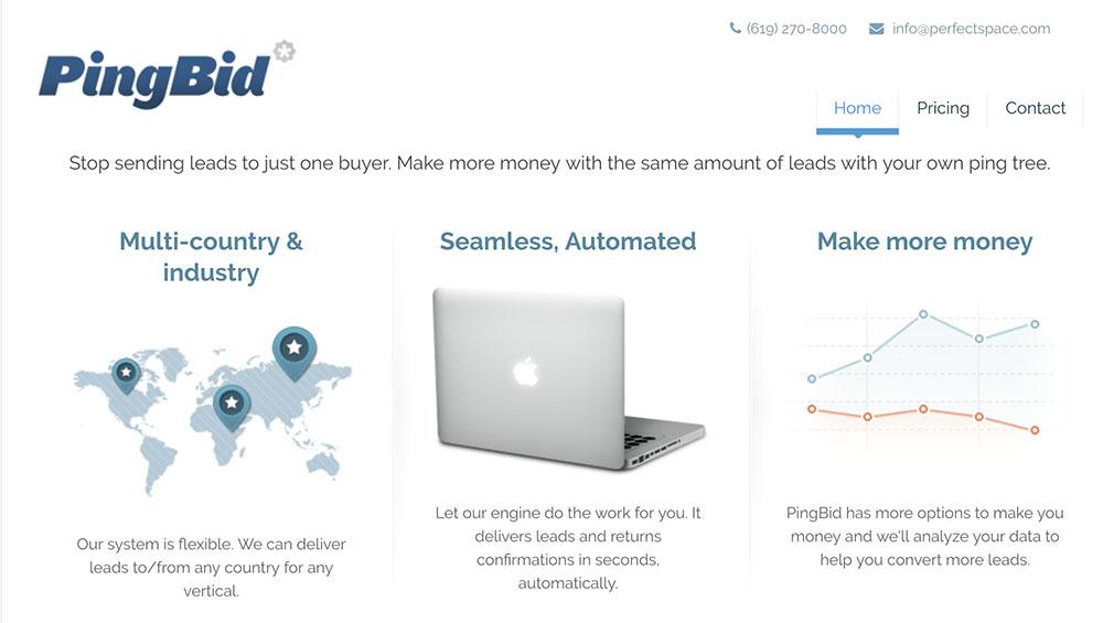 pingbid homepage