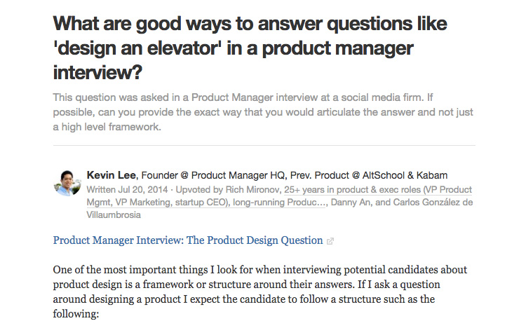 Quora Answer