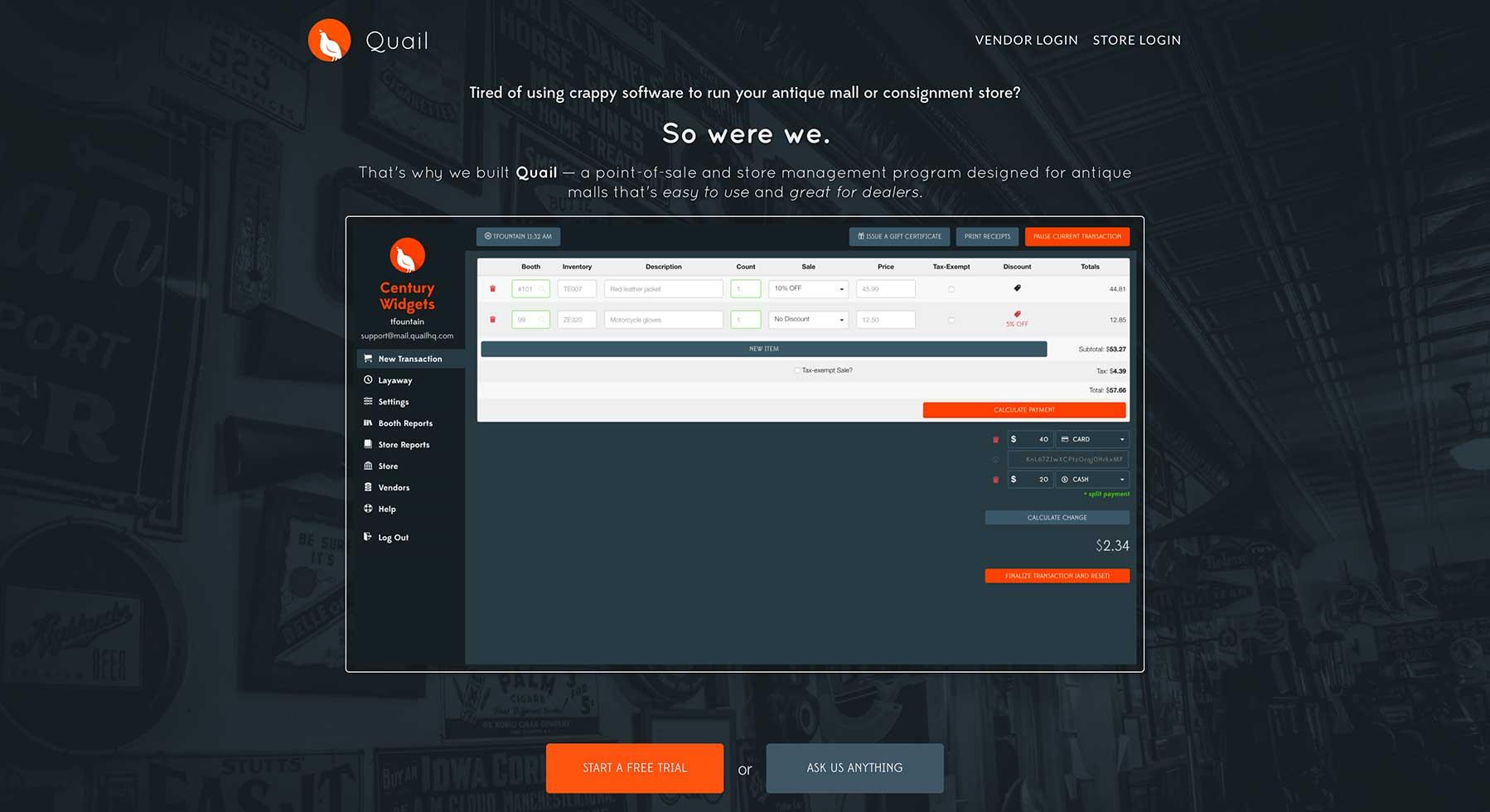 Quail homepage