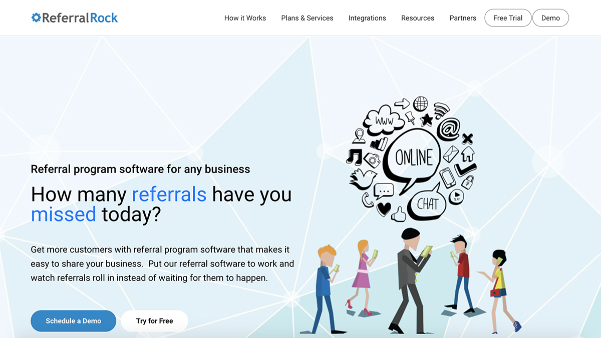 Referral Rock Homepage