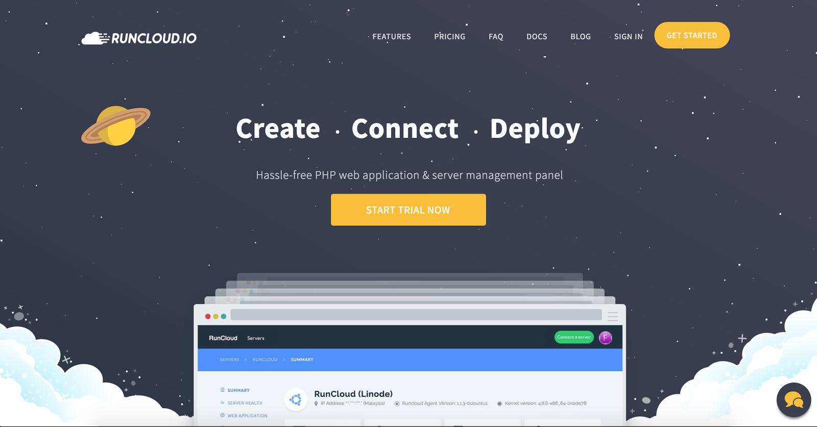 RunCloud website