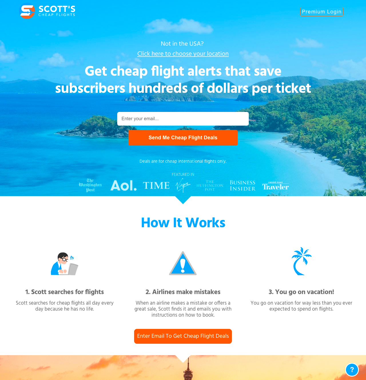 Scott's Cheap Flights Homepage