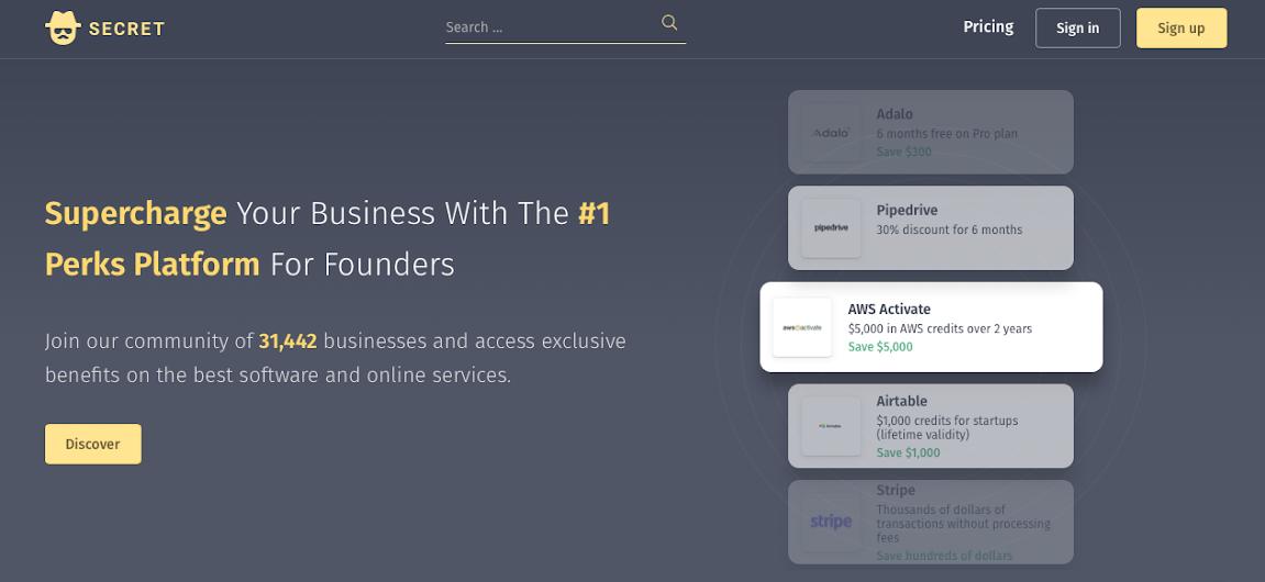secret's homepage