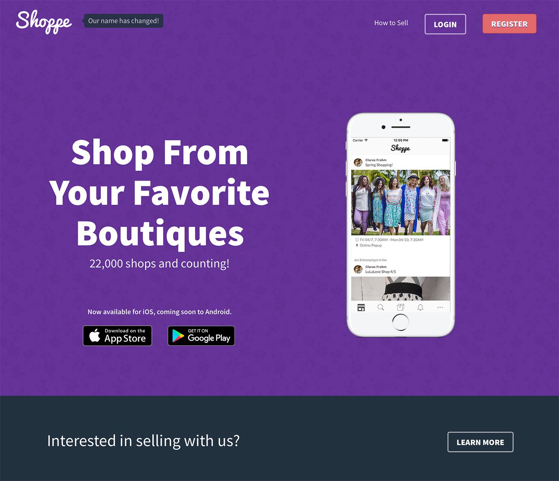 Shoppe website