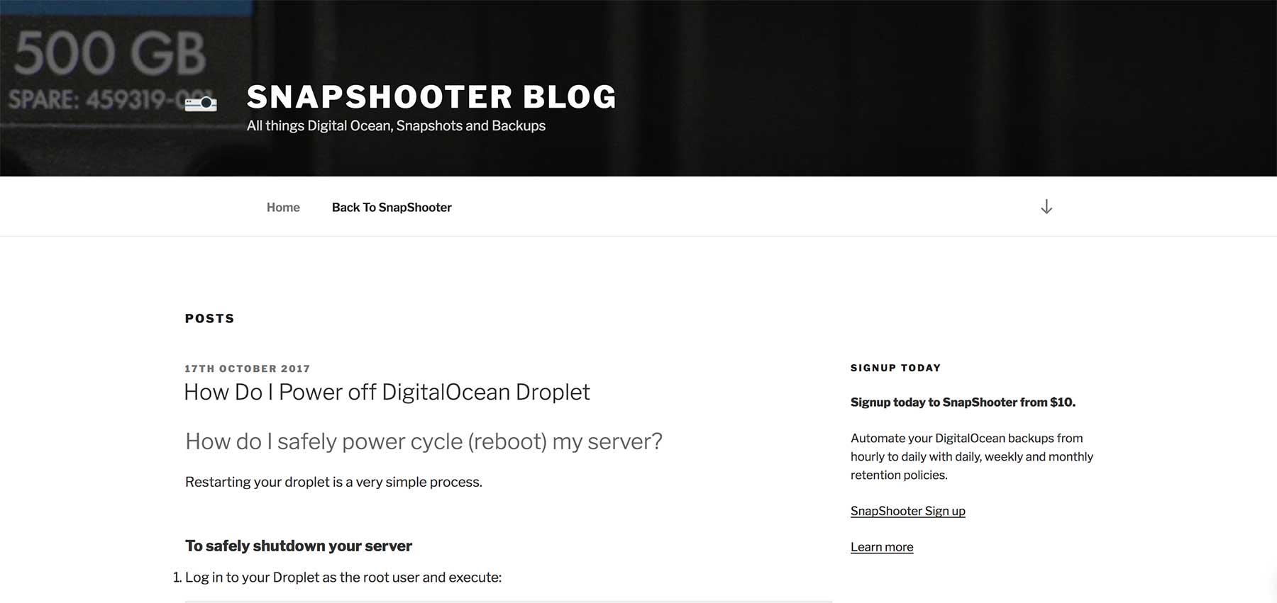 SnapShooter Blog