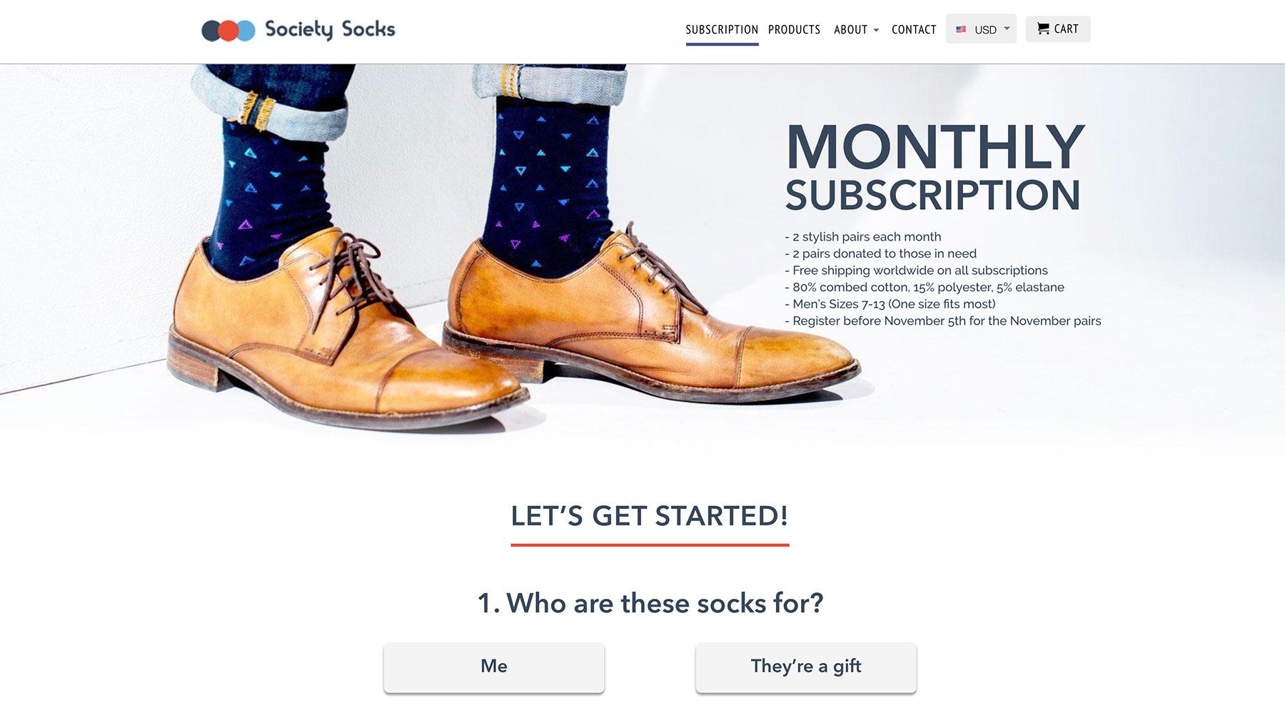 Society Socks Website
