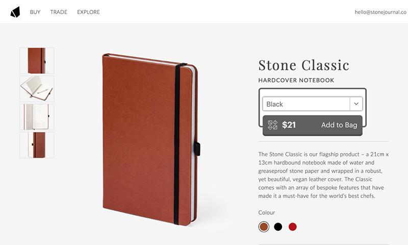Stone Journal on website