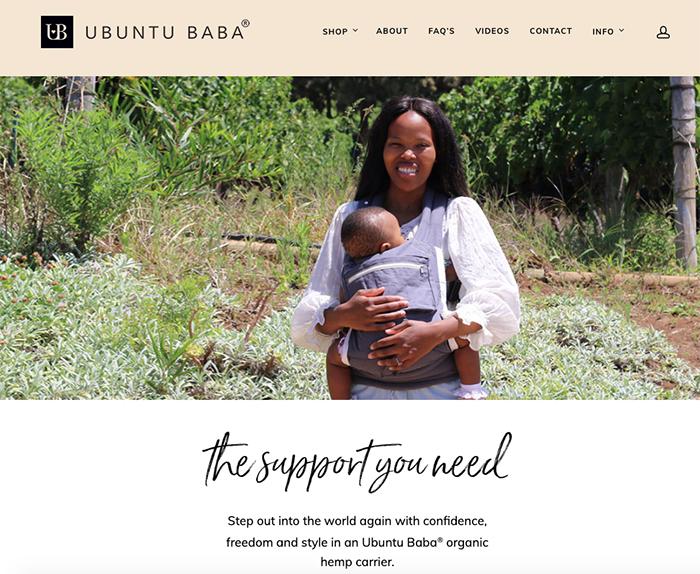 Ubuntu Baba homepage
