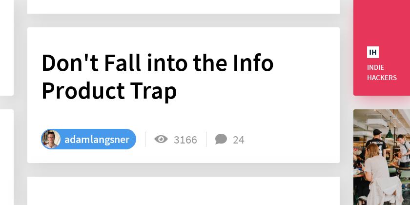 Don't Fall into the Info Product Trap