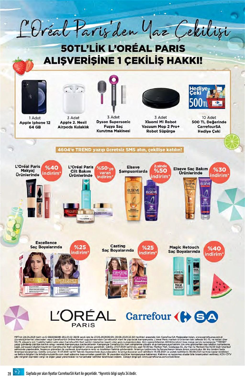 01.06.2021 CarrefourSA broşürü 28. sayfa