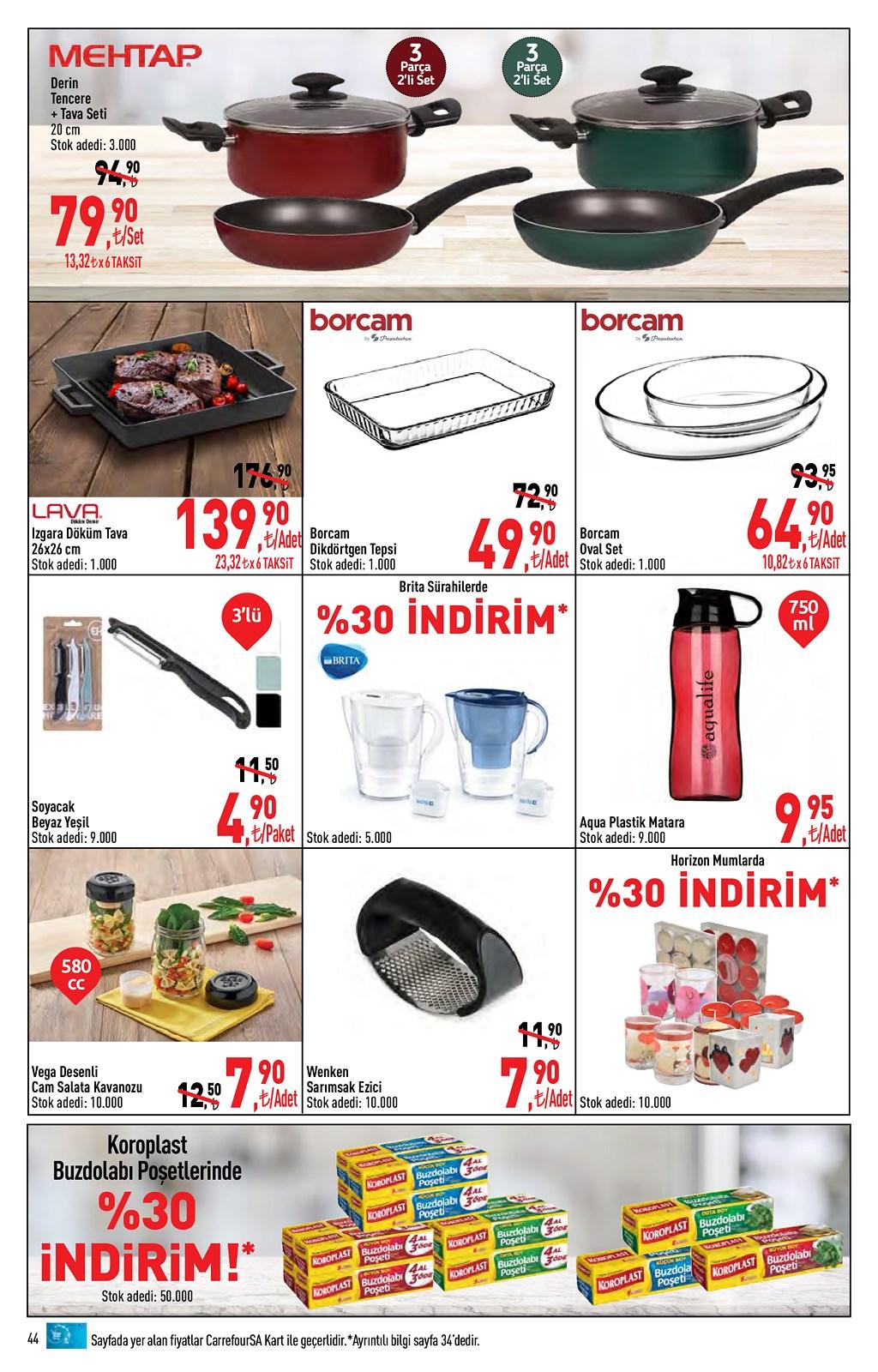 01.06.2021 CarrefourSA broşürü 44. sayfa